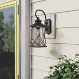 Bungalow Rose Pembroke 1-Light Outdoor Wall Lantern Finish: Black