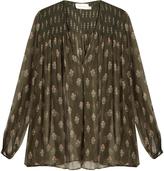 Zimmermann Karmic V-neck silk blouse