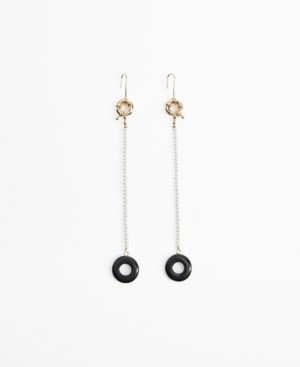MANGO Imitation Pearl Drop Earrings