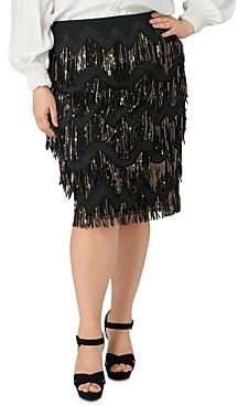 Marée Pour Toi Sequin-Fringe Skirt