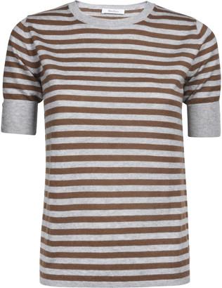 Max Mara Stripe Print Short-sleeve Jumper