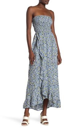 Tiare Hawaii Strapless Floral Print Dress