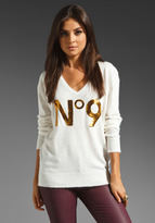 Wildfox Couture White Label Sequin No 9 Sweater