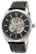 Lucien Piccard 10660A-01 Men's Loft Black Genuine Leather and Dial SS