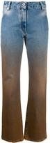 Off-White Off White dip-dye straight-leg trousers