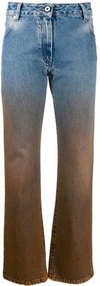 Off-White Dip-Dye Straight-Leg Trousers