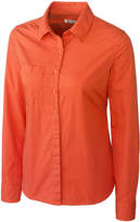 Cutter & Buck College Orange Drop Shot Button-Up