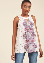 ModCloth Barbecue Bliss Sleeveless Top in L