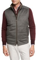Peter Millar Darien Wool/Cashmere Quilted Vest, Gray