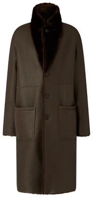 Joseph Brittany Polar Leather Coat