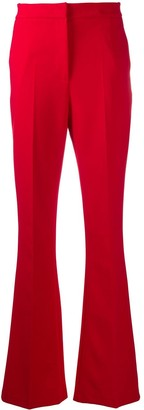 Manuel Ritz Flared High-Waisted Trousers