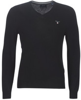 Gant SUPERFINE LAMBSWOOL V NECK men's Sweater in Black