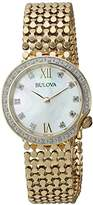 Bulova Women's Quartz Stainless Steel Casual Watch, Color:Gold-Toned (Model: 98R218)