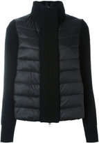 Moncler padded knitted cardigan