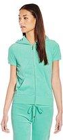 Juicy Couture Black Label Women's Logo Terry SOL Sequins Short Sleeve Jacket