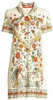 Tory Burch Floral-Print Scarf T-Shirt Dress