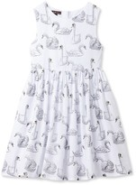 Stella Cove Toddler Girl's Swan Print Dress