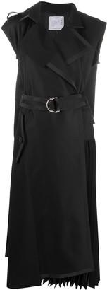 Sacai Trench-Wrap Dress