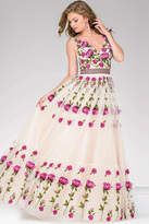 Jovani Long A-Line Tulle Prom Dress 47743