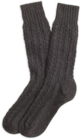 Brooks Brothers Cashmere Cable Crew Socks