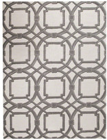 Global Views Arabesque 8'x10' Gray and Ivory Wool Area Rug