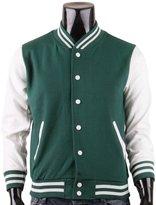 BCPOLO Men's Varsity Jacket Baseball Jacket Letterman Jacket XL