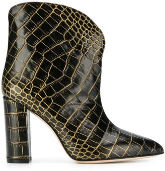 Paris Texas 100 crocodile-embossed ankle boots