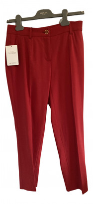 Dolce & Gabbana Red Cloth Trousers