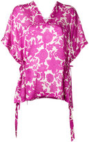 Christian Wijnants v-neck floral top - women - Silk - 36