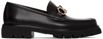 Salvatore Ferragamo Black Bleecker Loafers
