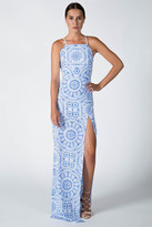 Donna Mizani Medallion Square Neck Gown