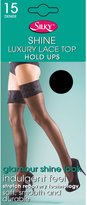 Silky Womens/Ladies Shine Lace Top Hold Ups (1 Pair)
