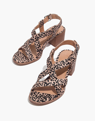 Madewell The Alyssa Sandal in Spotted Calf Hair