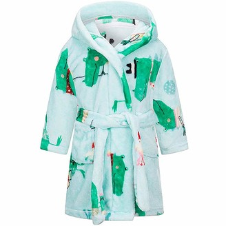 WINYU Children's Bathrobe Fleece Hooded Dressing Gown Boys Girls Dryrobe Kids Towelling Hoodie Changing Robe with Pockets Ideal for Swimming Surfing Beach Bathing (5-6year Old