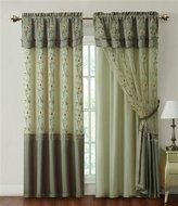 "Victoria Classics Sage Window Curtain Drapery Sheer Panel : One Piece w/ Attached Backing and Valance 57""x90"""