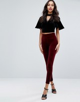 Miss Selfridge Velvet Highwaist Legging