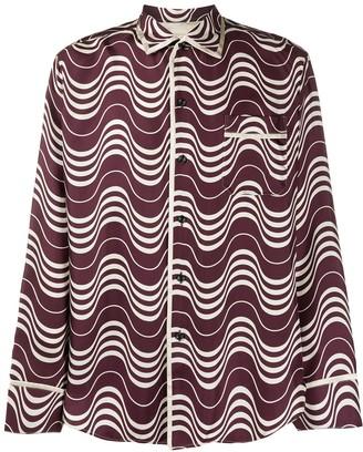 Marni Stripey Print Pyjama Shirt