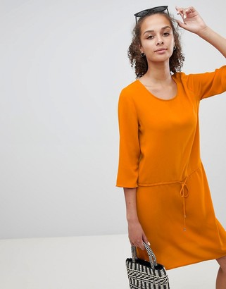 Only tie waist mini dress in orange