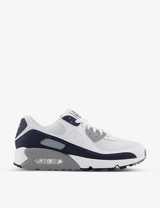 Nike Air Max 90 leather and textile trainers