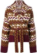 See by Chloe knitted belted cardigan