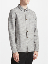 Kin By John Lewis Slub Cotton Shacket, Grey