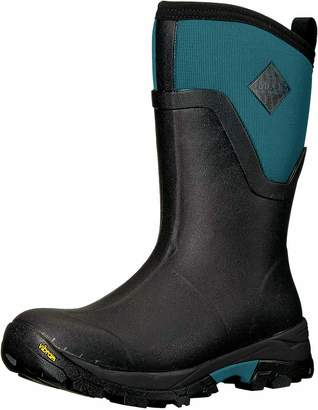 Muck Boot Muck Arctic Ice Extreme Conditions Mid-Height Rubber Women's Winter Boots with Arctic Grip Outsole Black/Blue