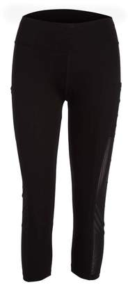 Crush Women's Leggings BLACK - Black Mesh Side-Panel Capri Leggings - Women