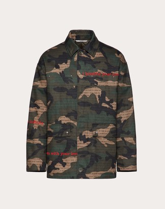 Valentino Camoulove Safari Jacket Man Military Green Cotton 100% 44