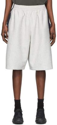 Off-White Kiko Kostadinov and Indigo Linen Louisville Wide Shorts
