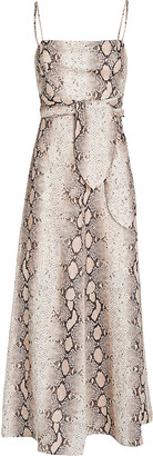 Zimmermann Bellitude Python Printed Linen Dress