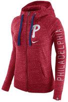 Nike Women's Philadelphia Phillies Gym Vintage Full-Zip Hooded Sweatshirt