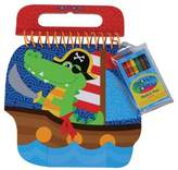 Stephen Joseph Shaped Sketch Pads - Alligator/Pirate