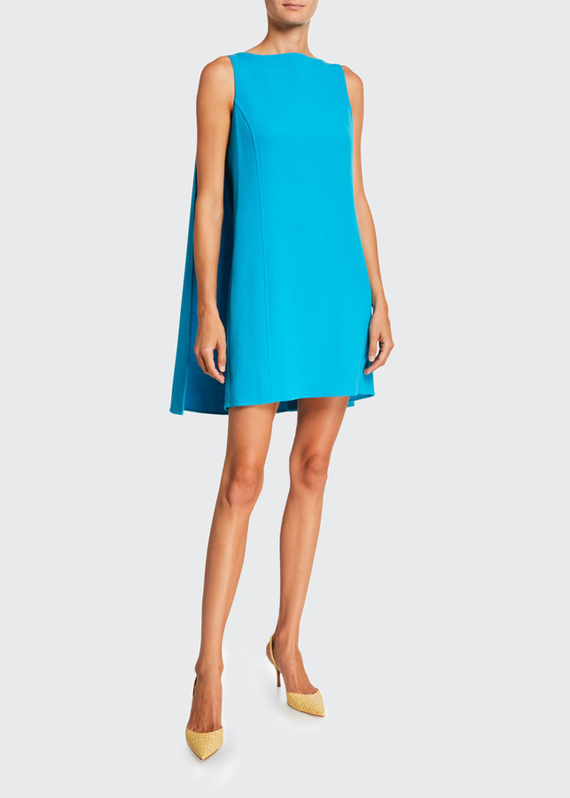 Oscar de la Renta Caped Shift Mini Dress