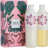 REN Rose To The World Body Wash Set